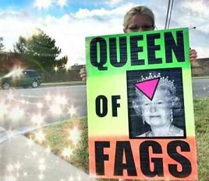 Aaaaanddd the queen of England is the queen of fags.
